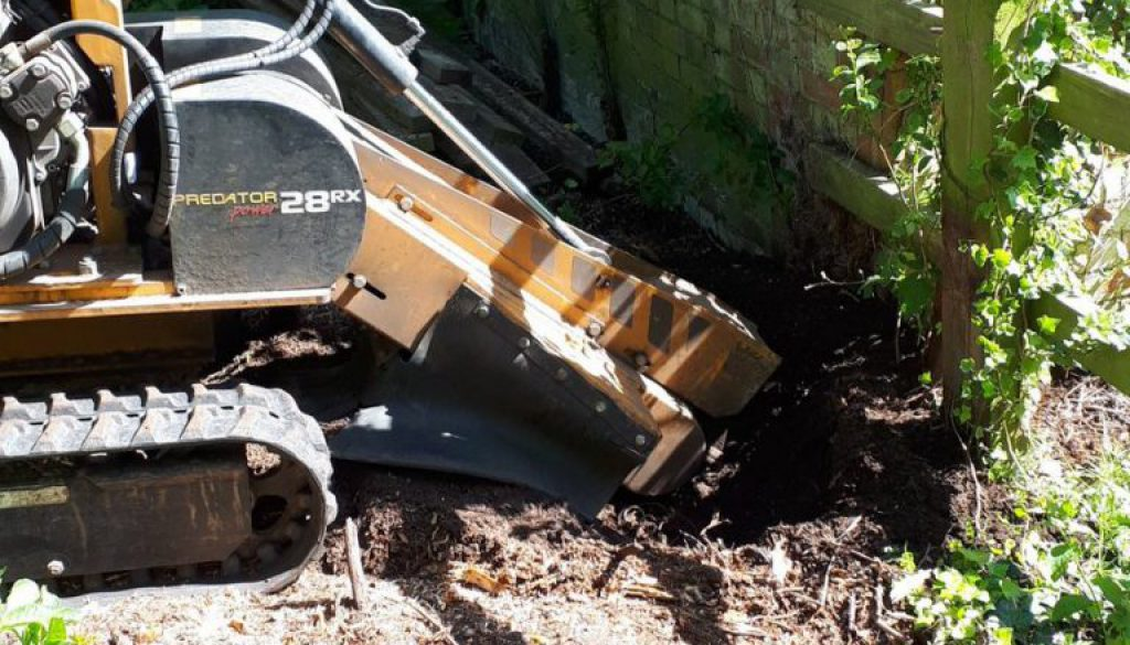 Removing tree stumps near Cambridge, in other words getting to the root of the problem! ...