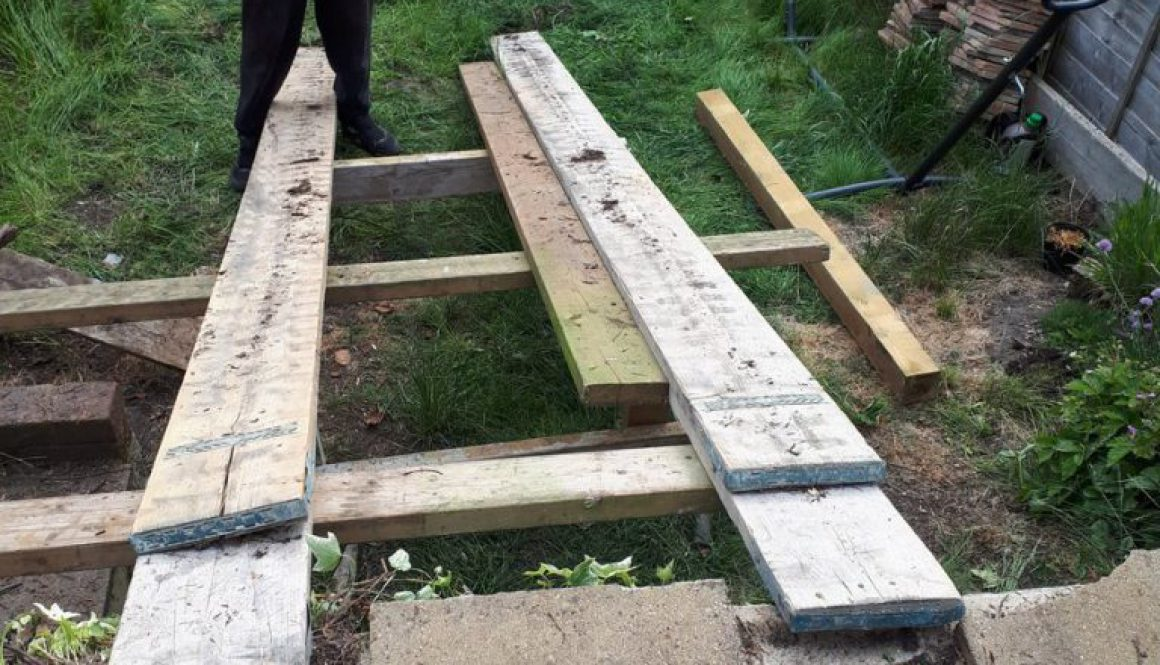 Tree stump removals today at Bishops Stortford, a very awkward garden to get into, hence the home made ramp! The tree st...