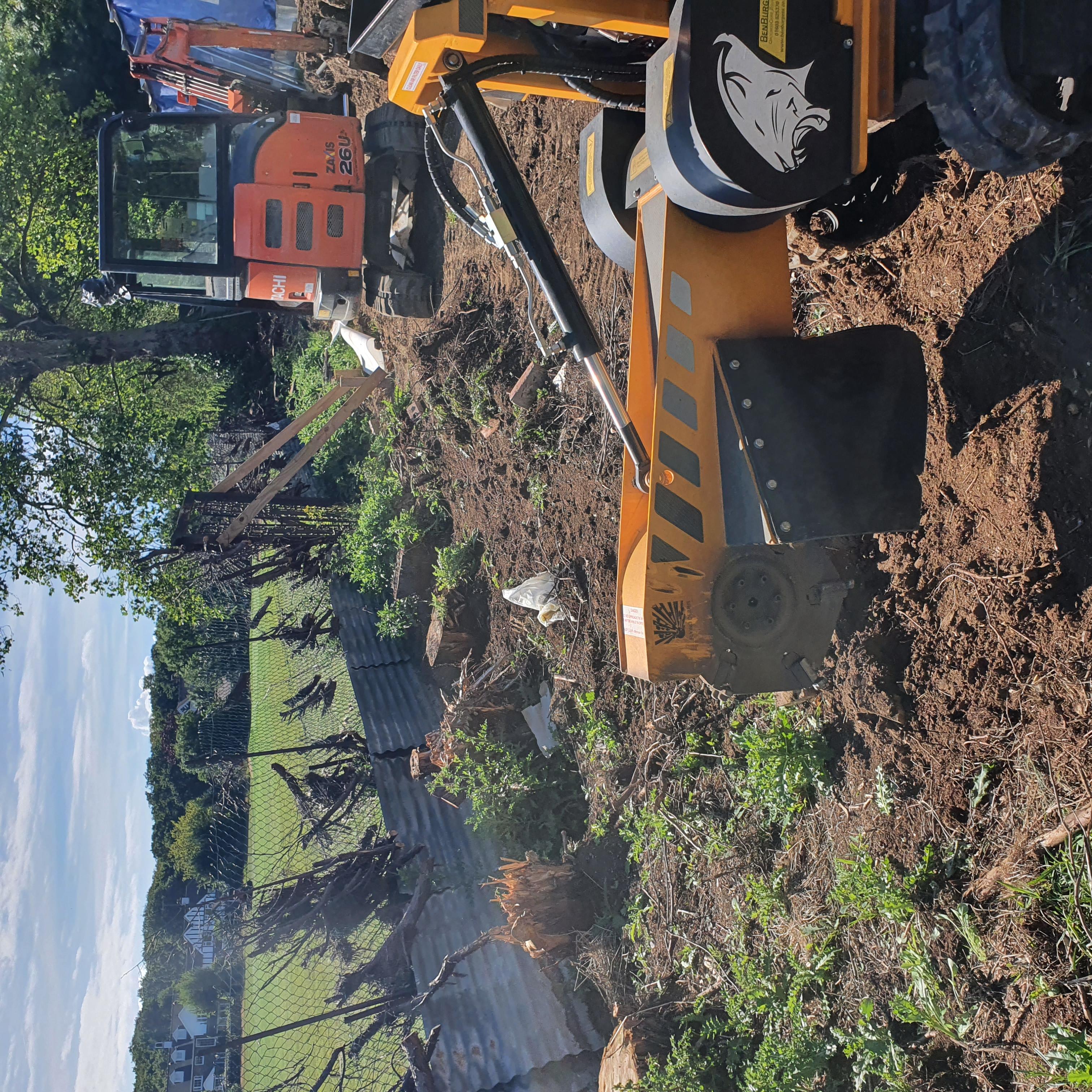 Tree Stump Removal - Excavator Or Stump Grinder?